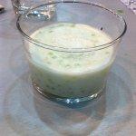 dessert lait de coco et perles de tapioca