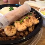 B6 Chicken & Shrimp Over Rice