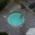 One of two outdoor open Jacuzzi. This one would have been really nice with an ocean view if it w
