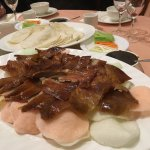 This was the Peking Duck Dish, with wraps, vegetables and hoisin sauce