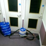 Concern over cleaning equipment blocking fire doors