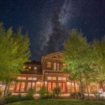 The Granite Lodge alit on a starry Montana Night