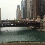 View from our table of the Chicago River