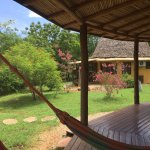 """Loved """"hanging"""" in these hammocks on our front porch of our bungalow!"""