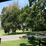 View of golf course from outdoor patio