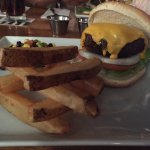 Feeling like a homeade burger. My husband and I wandered into Harry's restaurant. We both had th