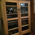 Wine rack in the Restaurant