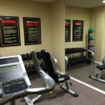 Small fitness center but enough equipment to get the job done.