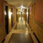 hallway to hotel room