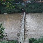 Bamboo bridge to cross into town