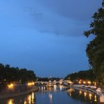 Trastevere at night along the river.