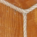 Rope is used for the trim on corners
