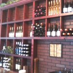 The wall of wine, just inside the restaurant.