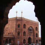 A view of the Shahi Gate, through which the Emperor would enter the mosque. It faces the Red For