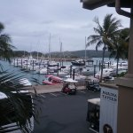 Casual dining at the Marina Tavern with view of the Marina.