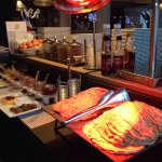 Breakfast buffet 16.5 euro per adult. Kids eat free. Eggs, breakfast meats, cheese, breads, yogu