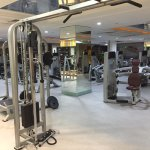 Weight room... one of several areas of this well-equipped fitness center