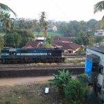 Railway track on behind hotel