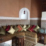 One of the seating areas in the riad