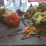 salade coquille st jacques, pousses, fois gras...
