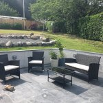 Seating area outside