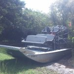 Our airboat. Go for the private tour!
