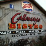 Callaway's Bistro is an old gas station resored, with diningrooms in the garage bays & patios.