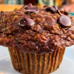 Awesome chocolate chip muffin
