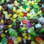 Fresh black bean salsa