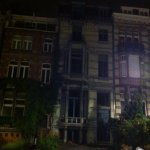 "Hotel at 23.00 on June 14th ""106. It looks abandoned. The illumination is from a streetlight"