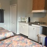 The two double beds and the kitchenette were pristine.
