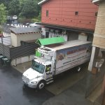 Dumpster and truck loading zone