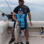 Connor's first salmon catch- and he reeled it in!