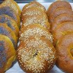 Poppy, Sesame & Onion Bagels