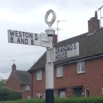 Sign outside Weston's B and B