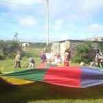 Birthday parties - parachute games