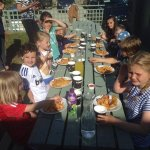 Birthday parties - fish and chips at sunset