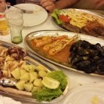 Excellent platers of seafood