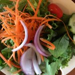 Large, fresh garden salad