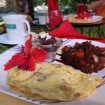 Breakfast - conch omelette and wonderful herring