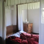 Vicarage boasted a four-poster bed