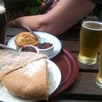 Sandwiches and beer, lunch of champions
