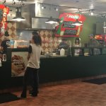 Inside The Pita Pit is colorful and open.