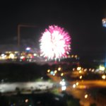 Fireworks from 18th floor suite