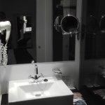 Detalle de un baño pequeño pero muy cómodo y funcional