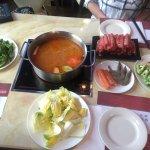 Hotpot buffet meal