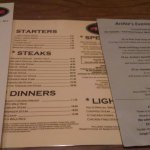Menu taken June 23, 2016