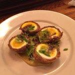 Scotch eggs & Fish-n-Chips