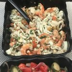 Seafood Salad in the deli case at the ready......its light...its fresh and its amazing!