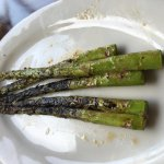 The remaining grilled asparagus